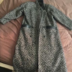Vintage ADA tweed long coat beautiful piece